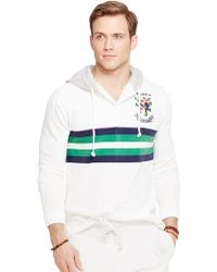 Polo Ralph Lauren Striped Rugby Hoodie - Lyst