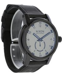 Nixon   Entirely Black Patriot Leather Watch   Lyst