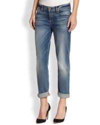 7 For All Mankind Josefina Slim Boyfriend Jeans - Lyst