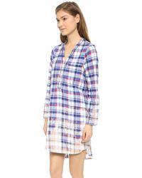 Sea Pajama Shirtdress - Multi - Lyst