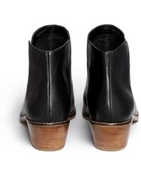 Cole Haan 'abbot' Dual Cutout Leather Ankle Boots - Black
