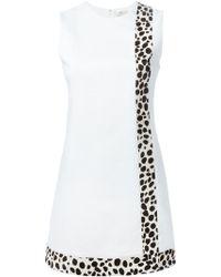Edun Giraffe Print Stripe Dress - Lyst