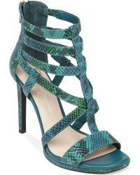 Jessica Simpson Marthena Caged Sandals - Lyst