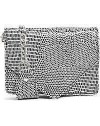 Asos Croc Shoulder Bag with Short Chain Strap - Lyst