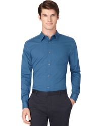 Calvin Klein Regular Fit Poplin Mini Stripe Sport Shirt - Lyst