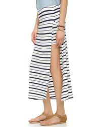 Feel The Piece Rourke Skirt - Navy/white - Blue