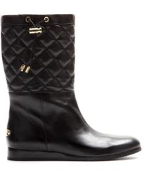 MICHAEL Michael Kors Lizzie Leather Boots - Lyst