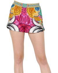 Manish Arora - Printed Peached Cotton Shorts - Lyst