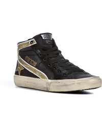 Golden Goose Deluxe Brand Leather Slide High-top Sneakers - Lyst