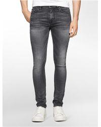 Calvin Klein | Jeans Slim Leg Medium Grey Wash Jeans | Lyst