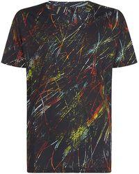 McQ by Alexander McQueen Rainbow Scratch Print Tshirt - Lyst