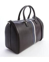 Ferragamo Chocolate Leather Top Handle Travel Bag - Lyst
