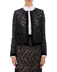 Erdem Floral Lace Cropped Victoria Jacket - Lyst