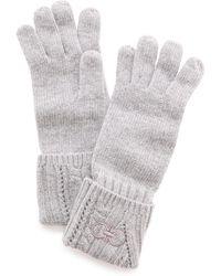 Ferragamo Knit Gloves  Nero - Lyst