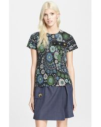 Marc Jacobs Women'S Floral Print Short Sleeve Tee - Lyst