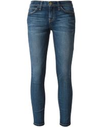 Current/Elliott Cropped Skinny Jeans - Lyst