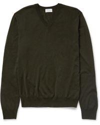 Façonnable | Fineknit Wool Vneck Jumper | Lyst
