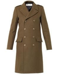 Saint Laurent Military Double-Breasted Wool Coat - Lyst