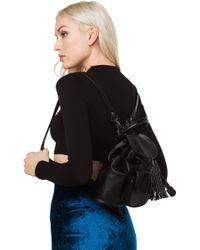 Nila Anthony - Itty Bitty Backpack With Fringe - Lyst
