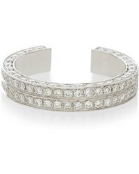 Maison Dauphin | White Gold And Diamond Double Row Band | Lyst