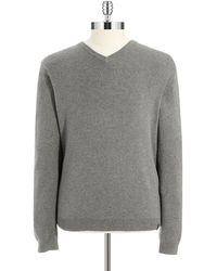 Calvin Klein V-Neck Sweater gray - Lyst
