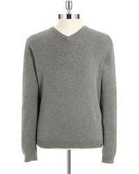 Calvin Klein Gray V-Neck Sweater - Lyst