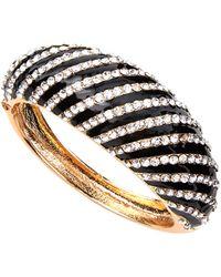 Kenneth Jay Lane - Pave Crystal Striped Cuff Bracelet - Lyst