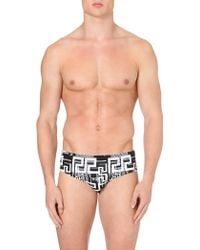 Versace Grecoprint Swim Trunks Mono - Lyst