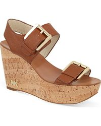 MICHAEL Michael Kors Warren Wedge Sandals - For Women - Lyst