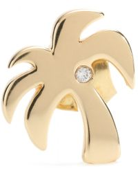Hillier | Mytheresa.com Exclusive Palm Tree 14kt Yellow Gold Single Earring With White Diamond | Lyst