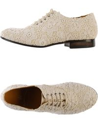 Leather Crown Lace-up Shoes - Lyst