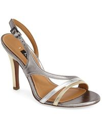 Kay Unger 'Cancan' Leather Slingback Sandal - Lyst