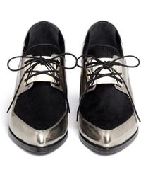 Jason Wu Metallic Leather Oxford Slip-ons - Lyst