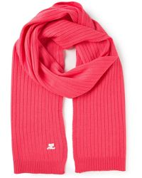Courreges Ribbed Scarf - Pink