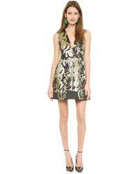 Alice + Olivia Alice  Olivia Pacey Lantern Dress  Blackgold - Lyst