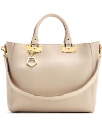 Sophie Hulme Leather Shopper - Lyst