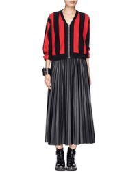 Sandro Goya Stripe Cropped Jacket - Lyst