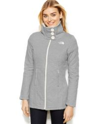 The North Face Green Caroluna Quilted - Lyst