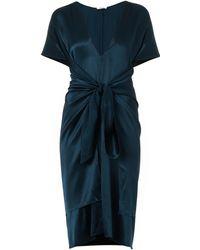 Issa Lizzie Silk-Satin Dress - Lyst