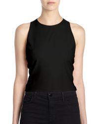Alice + Olivia Wolla Lace-back Cropped Top - Lyst