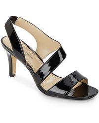 Adrienne Vittadini | Giprisity Patent Leather Sandals | Lyst