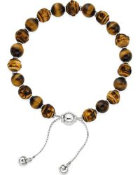 Gucci Bamboo Tigereye Bead Bracelet - For Women silver - Lyst