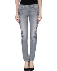 Just Cavalli Denim Trousers gray - Lyst