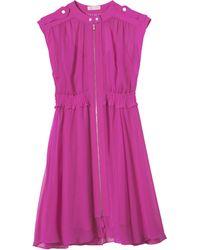 Rebecca Taylor - Chiffon Zip Front Dress - Lyst