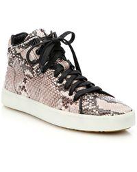 Rag & Bone Kent Snake-Embossed Leather Sneakers - Lyst