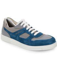 Ferragamo Salomon Leather & Suede Sneakers - Lyst