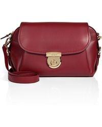 Ferragamo Leather Fiamma Flap Shoulder Bag - Lyst