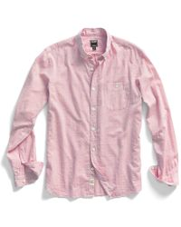 Todd Snyder Red Heather Chambray Shirt - Lyst