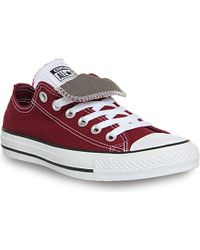 Converse All Star Double-Tongue Low-Top Trainers - For Men - Lyst
