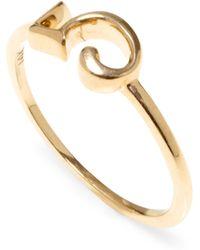 Lulu Frost 14k Number 5 Code Ring - Metallic